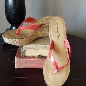 Montego Bay Club Cork Wedge Platform Sandals